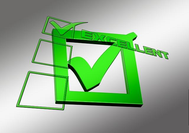 緑色のチェックマーク